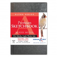 Stillman & Birn : Alpha Sketchbook 4 x 6in Hardbound 150gsm - White Vellum