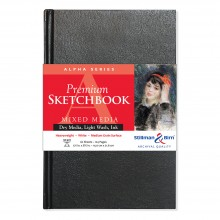 Stillman & Birn : Alpha Sketchbook : 5.5 x 8.5in Hardbound 150gsm : White Vellum