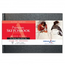 Stillman & Birn : Alpha Sketchbook : 9 x 6in Hardbound 150gsm : Natural White Vellum