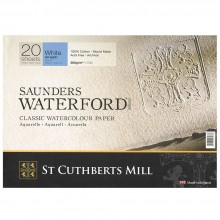 Saunders Waterford : Block : 300gsm (140lb) : 36x51cm : 14x20in : 20 Sheets : Not