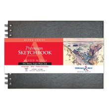 Stillman & Birn : Alpha Sketchbook 10 x 7in Wirebound 150gsm - Natural White Vellum
