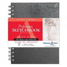 Stillman & Birn : Alpha Sketchbook : 6 x 8in Wirebound 150gsm : Natural White Vellum