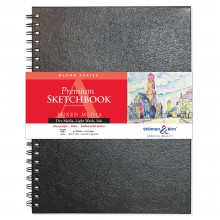 Stillman & Birn : Alpha Sketchbook : 9 x 12in Wirebound 150gsm : Natural White Vellum