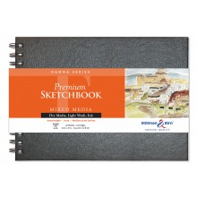 Stillman & Birn : Gamma Sketchbook 10 x 7in Wirebound 150gsm - Ivory Vellum