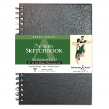 Stillman & Birn : Delta Sketchbook 7 x 10in Wirebound 270gsm - Ivory Cold Press/Rgh