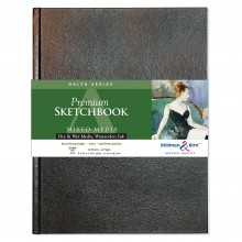 Stillman & Birn : Delta Sketchbook 8.25 x 11.75in (A4) Hardbound 270gsm - Ivory Cold Press/Rgh