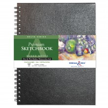 Stillman & Birn : Delta Sketchbook 9 x 12in Wirebound 270gsm - Ivory Cold Press/Rgh