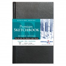 Stillman & Birn : Epsilon Sketchbook : 5.5 x 8.5in Hardbound 150gsm : Natural White Smooth
