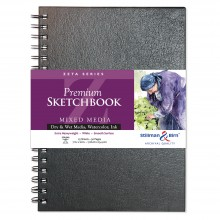 Stillman & Birn : Zeta Sketchbook 7 x 10in Wirebound 270gsm - Natural White Smooth