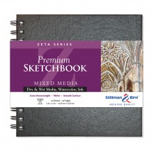 Stillman & Birn : Zeta Sketchbook 7 x 7in Wirebound 270gsm - Natural White Smooth