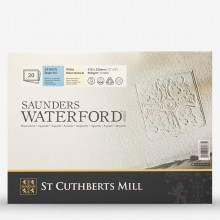 Saunders Waterford : Block : 300gsm (140lb) : 9x12in : 20 Sheets : Not