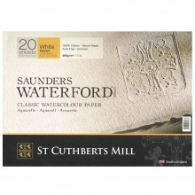 Saunders Waterford : Block : 300gsm (140lb) : 9x12in : 20 Sheets : Rough
