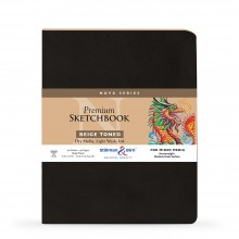 Stillman & Birn : Nova : Softcover Mixed Media Sketchbook : 150gsm : 8x10in (20.3x25.3cm) : Beige