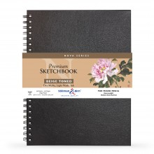 Stillman & Birn : Nova : Wirebound Mixed Media Sketchbook : 150gsm : 9x12in (22.9x30.5cm) : Beige