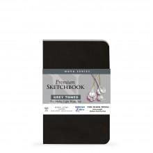 Stillman & Birn : Nova : Softcover Mixed Media Sketchbook : 150gsm : 5.5x8.5in (14x21.6cm) : Grey