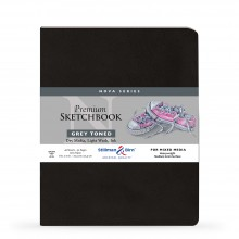 Stillman & Birn : Nova : Softcover Mixed Media Sketchbook : 150gsm : 8x10in (20.3x25.3cm) : Grey