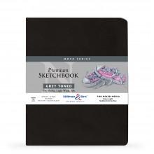 Stillman & Birn : Nova : Softcover Mixed Media Sketchbook : 150gsm : 8x10in (20.3x25.3cm) : Grey