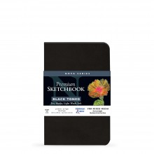 Stillman & Birn : Nova : Softcover Mixed Media Sketchbook : 150gsm : 5.5x8.5in (14x21.6cm) : Black