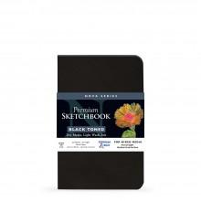Stillman & Birn : Nova : Softcover Mixed Media Sketchbook : 150gsm : 5.5x8.5in (14x21.6cm) : Black