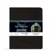 Stillman & Birn : Nova : Softcover Mixed Media Sketchbook : 150gsm : 8x10in (20.3x25.3cm) : Black