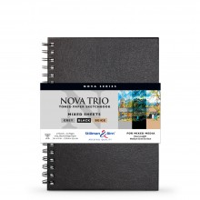 Stillman & Birn : Nova Trio : Wirebound Mixed Media Sketchbook : 150gsm : 7x10in (17.8x25.4cm)
