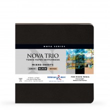 Stillman & Birn : Nova Trio : Softcover Mixed Media Sketchbook : 150gsm : 7.5x7.5in (19x19cm)