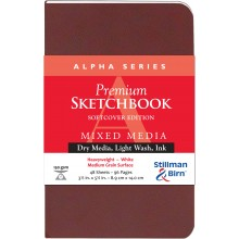 Stillman & Birn : Alpha Softcover Sketchbook : 150gsm : Med Grain : 3.5x5.5in (9x14cm) : Portrait