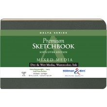Stillman & Birn : Delta Softcover Sketchbook : 270gsm : Cold Press : 8.5x5.5in (14x22cm) : Landscape