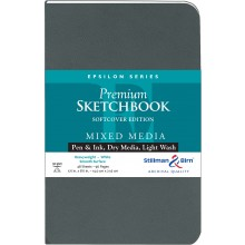 Stillman & Birn : Epsilon Softcover Sketchbook : 150gsm : Smooth : 5.5x8.5in (22x14cm) : Portrait