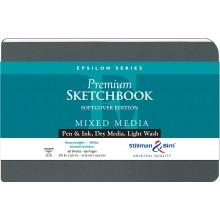 Stillman & Birn : Epsilon Softcover Sketchbook : 150gsm : Smooth : 8.5x5.5in (14x22cm) : Landscape