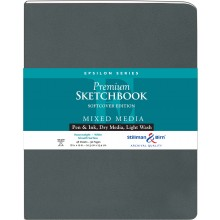 Stillman & Birn : Epsilon Softcover Sketchbook : 150gsm : Smooth : 8x10in (20x25cm) : Portrait