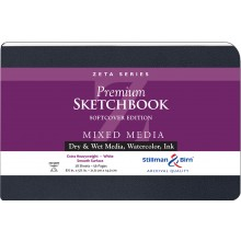 Stillman & Birn : Zeta Softcover Sketchbook : 270gsm : Smooth : 8.5x5.5in (14x22cm) : Landscape