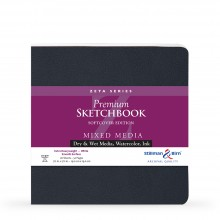 Stillman & Birn : Zeta Softcover Sketchbook : 270gsm : Smooth : 7.5x7.5in (19x19cm) : Square