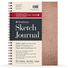 Strathmore : 200 Series : Metallic Sketch Journal : Hammered Copper : 74gsm : 80 Sheets : 9x12in