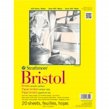 Strathmore ST475-14 36cm 15 Sheets 2-Ply Smooth Surface 400 Series Tape Bound Bristol Paper x 43cm