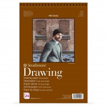 Strathmore : 400 Series : Spiral Drawing Pad : 163gsm : 24 Sheets : A2