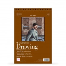 Strathmore : 400 Series : Spiral Drawing Pad : 163gsm : 24 Sheets : A3