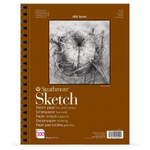 Strathmore : 400 Series : Spiral Sketch Pad : 89gsm : 100 Sheets : A2