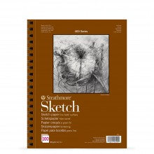 Strathmore : 400 Series : Spiral Sketch Pad : 89gsm : 100 Sheets : A3