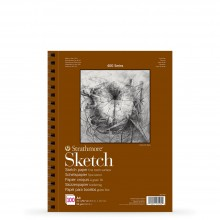 Strathmore : 400 Series : Spiral Sketch Pad : 89gsm : 100 Sheets : A4