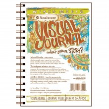 Strathmore : Visual Journal : Mixed Media Paper Pad : 163gsm : 5.5x8in : 34 Sheets : Vellum