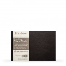 Strathmore : 400 Series : Hardbound Toned Grey Mixed Media Sketchbook : 300gsm : 48 Pages : 8.5x5.5in