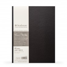 Strathmore : 400 Series : Hardbound Toned Grey Mixed Media Sketchbook : 300gsm : 48 Pages : 8.5x11in