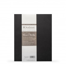 Strathmore : 400 Series : Softcover Toned Grey Mixed Media Sketchbook : 48 Pages : 8x5.5in