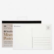 Strathmore : Mixed Media Postcard Pad : 4x6in : 15 Sheets : White