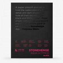 Stonehenge : Aqua Black Watercolour Paper Pad : 140lb (300gsm) : 9x12in : Hot Pressed