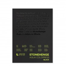 Stonehenge : Aqua Black Watercolour Paper Pad : 140lb (300gsm) : 9x12in : Not