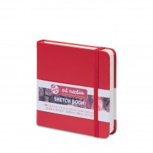 Royal Talens : Art Creation : Hardback Sketchbook : 12x12cm : Red