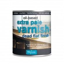 Polyvine : Extra Pale Dead Flat Oil Varnish : 500 ml : By Road Parcel Only