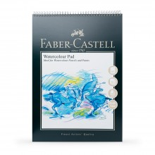 Faber Castell : Watercolour Paper Pad : 300gsm : Spiral Bound : A3